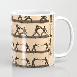 Vintage Fencing Swordsmanship Diagram (1907) Coffee Mug