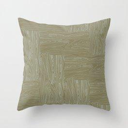 Woodgrain Throw Pillow