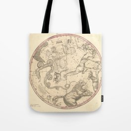 The Northern Constellations for Each Month of the Year (1856) Tote Bag