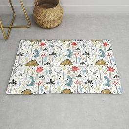 Dinosaurs Animals Prints patterns Rug
