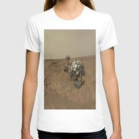 nasa T-shirts featuring NASA Curiosity Rover's Self Portrait at 'John Klein' Drilling Site in HD by Planet Prints