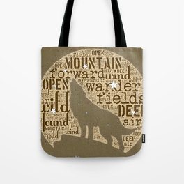 wild wander - mountain wolf Tote Bag