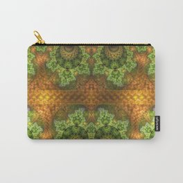 balls and stunning patterns in green and gold / orange Carry-All Pouch