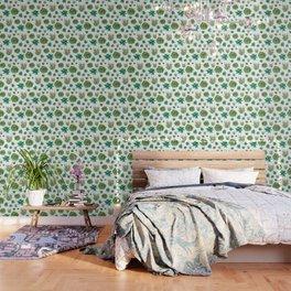 Succulent Trio Pattern Wallpaper