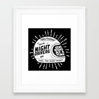 cafe racer Framed Art Prints featuring Night Driver, Cafe Racer.  by BrendanLloydDesign