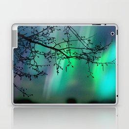 Tree Branch and Aurora Borealis Night Sky Laptop & iPad Skin