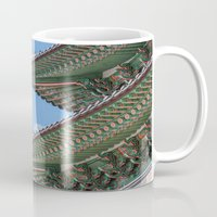 korea Mugs featuring Gyeongbokgung Palace Lines_South Korea by Jennifer Stinson
