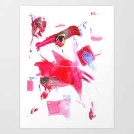 Abstract Painting Universes Collide Art Print