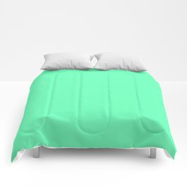 Spring - Pastel - Easter Green Solid Color 3 Comforters