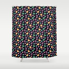 Freely Birds Flying - Fly Away Version 3 - Eggplant Purple Color Shower Curtain