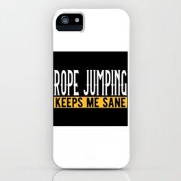 Jump Rope Lovers Gift Idea Design Motif iPhone Case