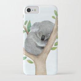 Sleeping Koala Bear iPhone Case