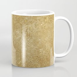 Gold Rush, Golden Shimmer Texture, Exotic Metallic Shine Graphic Design Coffee Mug