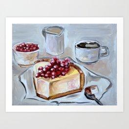 Desert, sweet, food, breakfast, coffee, lunch, dish, cake Art Print