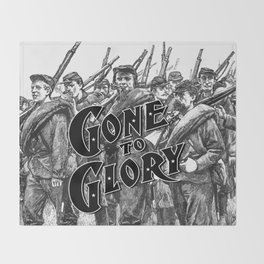 Gone To Glory B&W Throw Blanket
