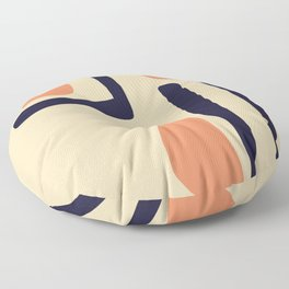 Coral and Blue Floor Pillow
