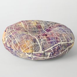 Memphis Tennessee City Map Floor Pillow