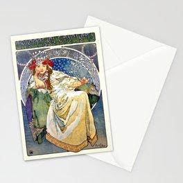 Princess Hyacinth - Princezna Hyacinta, Alphonse Mucha Art Nouveau Poster Stationery Cards