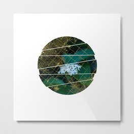 Subtly Flourishing - Circle Metal Print