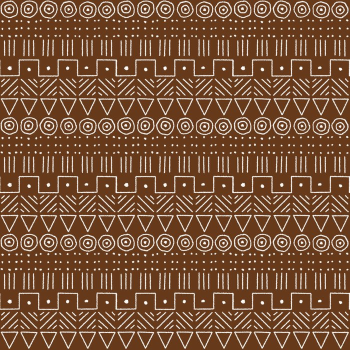 Mudcloth Style 1 in Brown Comforters