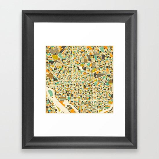 Washington DC Map Framed Art Print