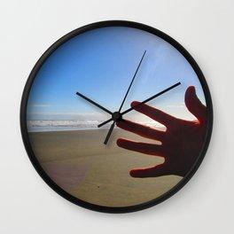 Hand Photobomb Wall Clock