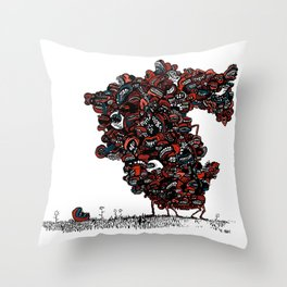 The chattering class  -alt Throw Pillow