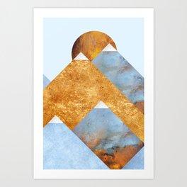 Modern Mountain No5-P2 Art Print