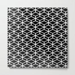 Black and White Mosaic Print Metal Print