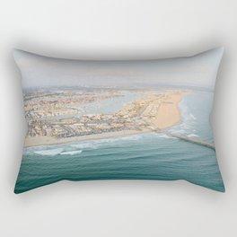 Newport Beach Pier Rectangular Pillow