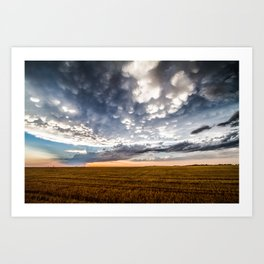 After the Storm - Spacious Sky Over Field in West Texas Art Print