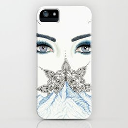 Winter Eyes Mountain Range Mandala iPhone Case