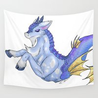 goat Wall Tapestries featuring Sea Goat by IowaShots