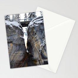 The gates of Maligne Canyon Stationery Cards