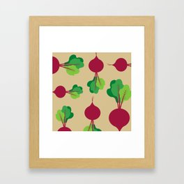 Beets in Tan Framed Art Print
