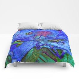 Rhododendron Aqua Comforters