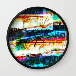 Oh Oh Neon Layer Dark Wall Clock