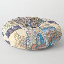 People Getting Stabbed in Medieval Manuscripts Floor Pillow