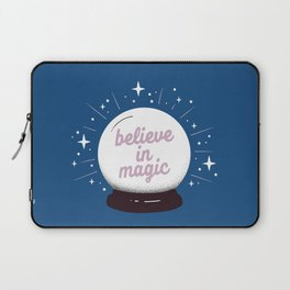 "Crystal ball ""believe in magic"" Laptop Sleeve"