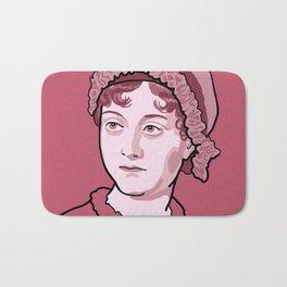 Jane Austen Red Pink Bath Mat