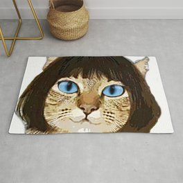 Blue Eyed Bob Cat Rug