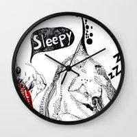 koala Wall Clocks featuring Koala  by ARI(Sunha Jung)