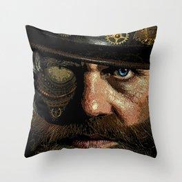 'Steampunk Gangster' Throw Pillow