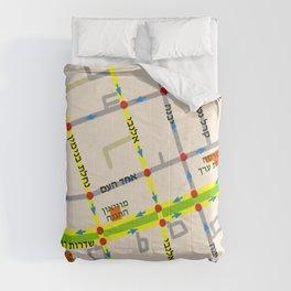 Tel Aviv map - Rothschild Blvd. Hebrew Comforters