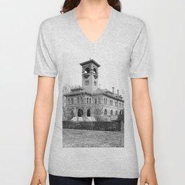 St. Ursula Hall, Ursuline Convent, New Orleans 1900 Unisex V-Neck