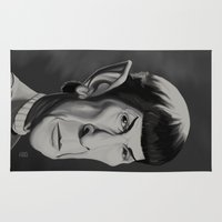 spock Area & Throw Rugs featuring Spock - Caricature by Nate Cruz