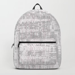 Greyish dirty and wavy look on white pavement Backpack