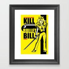 Kill Bullet Bill Framed Art Print