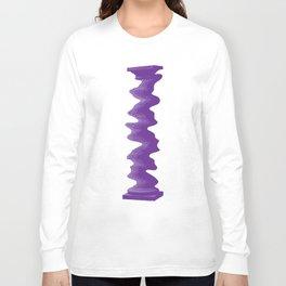 Single Rippled Column Long Sleeve T-shirt