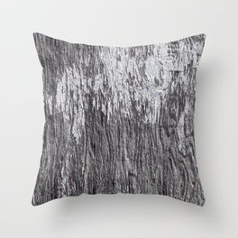 White Barn Wood Throw Pillow